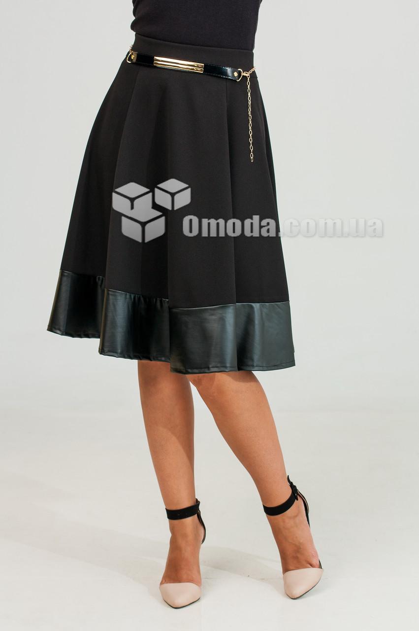 Молодежная юбка Инна черного цвета