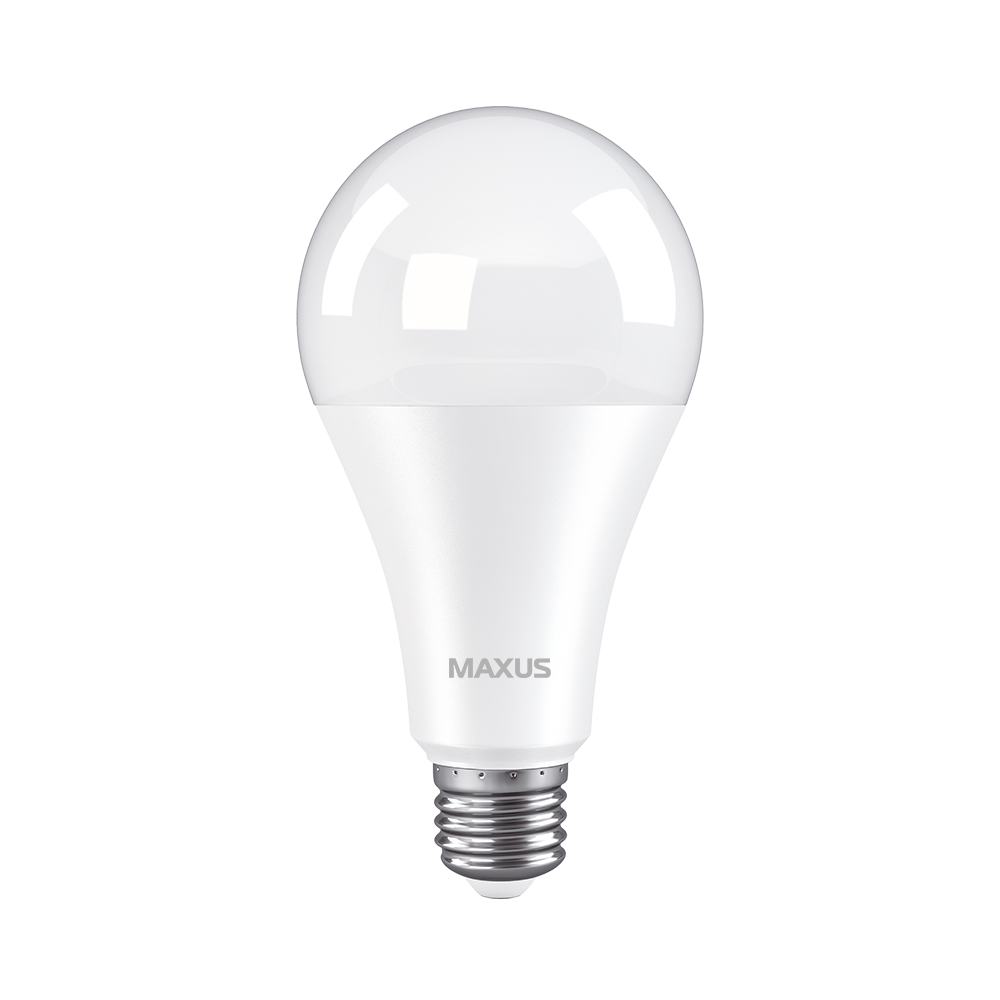 Светодиодная лампа Maxus 1-LED-783 18W А80 3000K 220V E27 Код.59633
