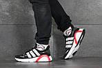 Мужские кроссовки Adidas (черно-белые), фото 6