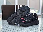 Мужские кроссовки Adidas (черно-красные), фото 3