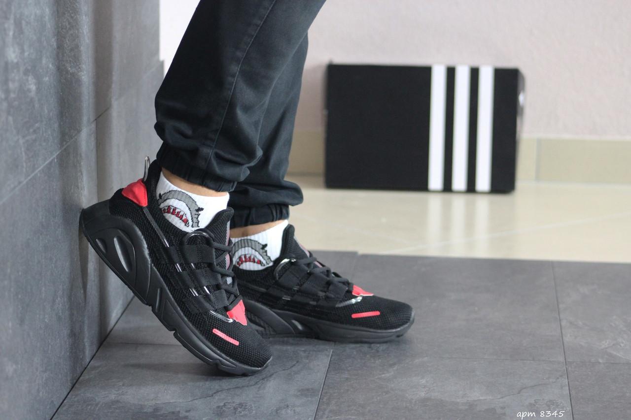 Мужские кроссовки Adidas (черно-красные)