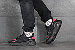 Мужские кроссовки Adidas (черно-красные), фото 5