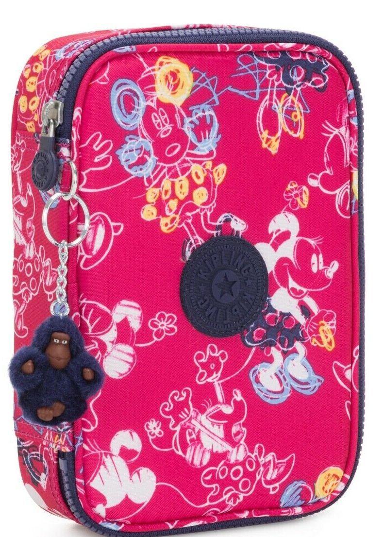 Пенал для школьника Kipling Mickey, розовый