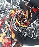 10590-18, павлопосадский платок из вискозы с подрубкой, фото 6