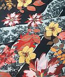 10590-18, павлопосадский платок из вискозы с подрубкой, фото 4