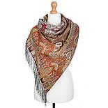 Царский 1159-53, павлопосадский шарф-палантин шерстяной с шелковой бахромой, фото 2