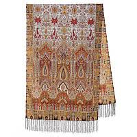 Царский 1159-53, павлопосадский шарф-палантин шерстяной с шелковой бахромой, фото 1