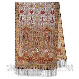 Царський 1159-53, павлопосадский шарф-палантин вовняної з шовковою бахромою