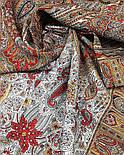 Царский 1159-53, павлопосадский шарф-палантин шерстяной с шелковой бахромой, фото 4