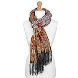 Царский 1159-53, павлопосадский шарф-палантин шерстяной с шелковой бахромой, фото 7