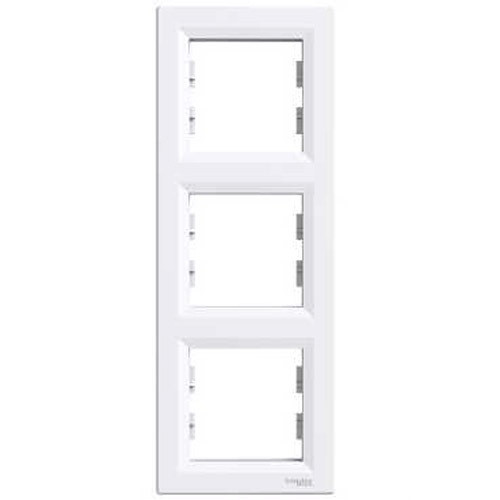 Рамка 3 пост. вертикальная Schneider Asfora белая EPH5810321