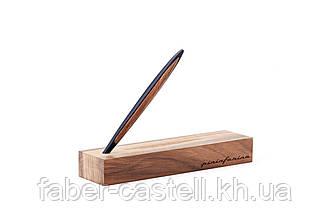 Ручка шариковая Pininfarina Cambiano Ink Blue, корпус синий матовый алюминий  + грецкий орех