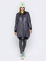Женская длинная  куртка бомбер play S 40-42 серый принт a19APw90_4p