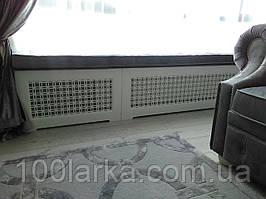 Декоративный экран (решетка) на батарею отопления №69 из дерева.
