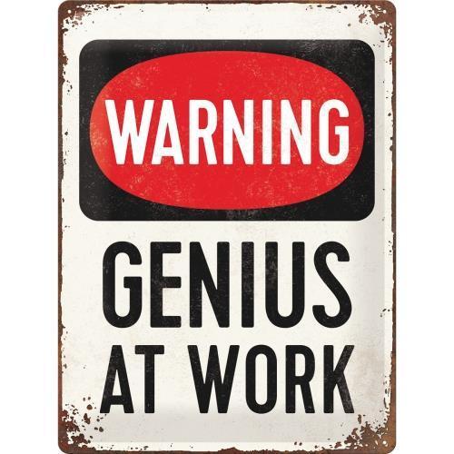 Табличка Nostalgic-Art Genius at Work (23229)