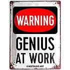 Табличка Nostalgic-Art Genius at Work (23229), фото 2