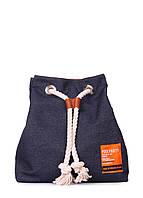 Джинсовый рюкзак на завязках, фото 1