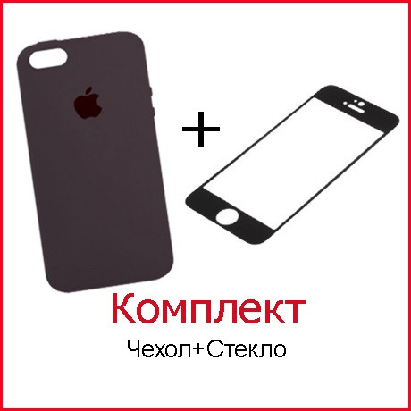Комплект Чехол и Стекло для iPhone 7 Plus (47 цветов)