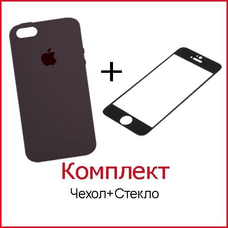 Комплект Чехол и Стекло для iPhone 8 (47 цветов)