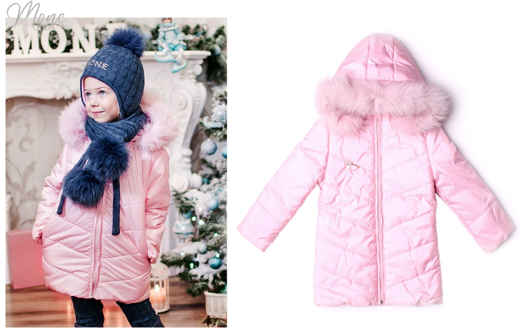 Удлиненная куртка для девочки тм Моне (еврозима)  р-ры 116