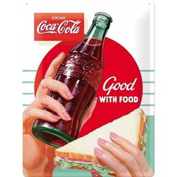 Табличка Nostalgic-Art Coca Cola Good with Food (23234)