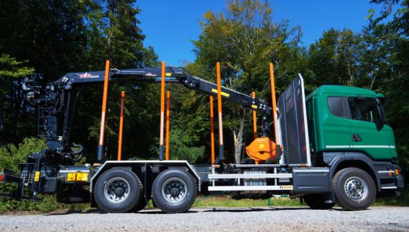 Специализированный кран для лесовозов Hyva HZT 130 Z0