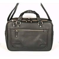 Мужская сумка кожаная inbag 14101 Черная (2141011)