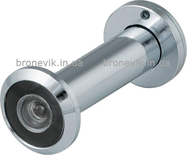 Глазок  Fuaro (Фуаро) 16/200/60x100 (оптика пластик, угол обзора 200) CP Хром