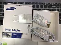 Сетевое зарядное устройство USB Samsung 2 А и micro кабель (2в1) Белый/
