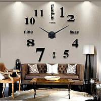 Настенные 3d часы Timelike 130см T4215 Black