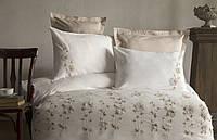 Комплект постельного белья сатин с вышивкой и кружевом Тм Pupilla Liza ekru, фото 1