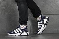 Кроссовки Adidas мужские, синий/белый, в стиле Адидас, текстильные, код SD-8347