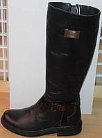 Сапоги зимние кожаные женские на низком каблуке от производителя модель СА253-1, фото 1