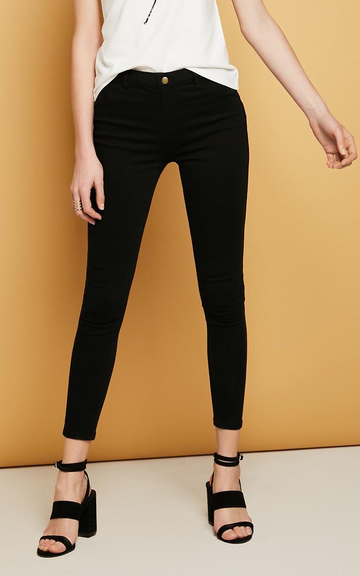 Джеггинсы женские стрейчевые. Джинсы скинни облегающие Vero Moda, размер M (черные), фото 1
