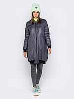 Женская демисезонная куртка бомбер play L 48-50 серый принт a19APw90_4p