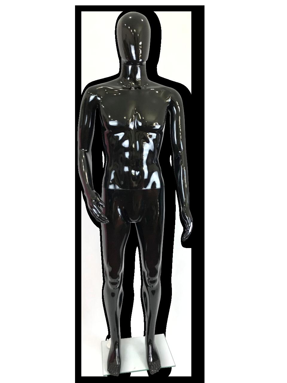 Манекен черный  мужской согнутая рука