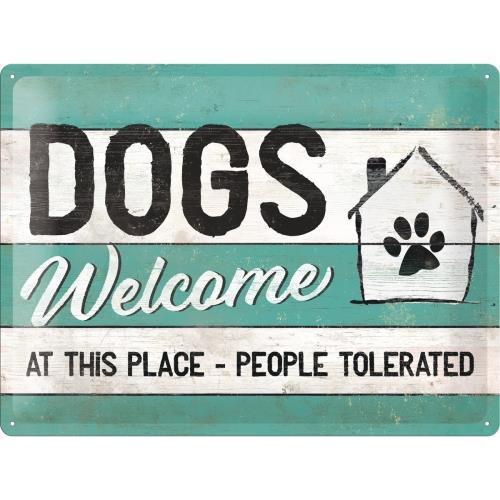 Табличка Nostalgic-Art Pfoten Dogs Welcome (23246)