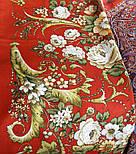 Дива 1474-55, павлопосадский шарф-палантин шерстяной с шелковой бахромой   Стандартный сорт, фото 6