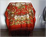 Дива 1474-55, павлопосадский шарф-палантин шерстяной с шелковой бахромой   Стандартный сорт, фото 4