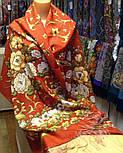 Дива 1474-55, павлопосадский шарф-палантин шерстяной с шелковой бахромой   Стандартный сорт, фото 7
