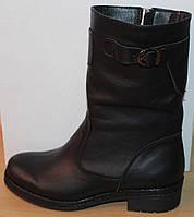 Сапоги зимние кожаные женские на широкую ногу от производителя модель СА247, фото 1
