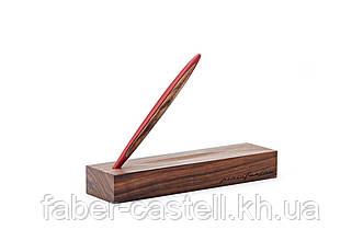 Ручка шариковая Pininfarina Cambiano Ink Red, корпус красный матовый алюминий  + грецкий орех