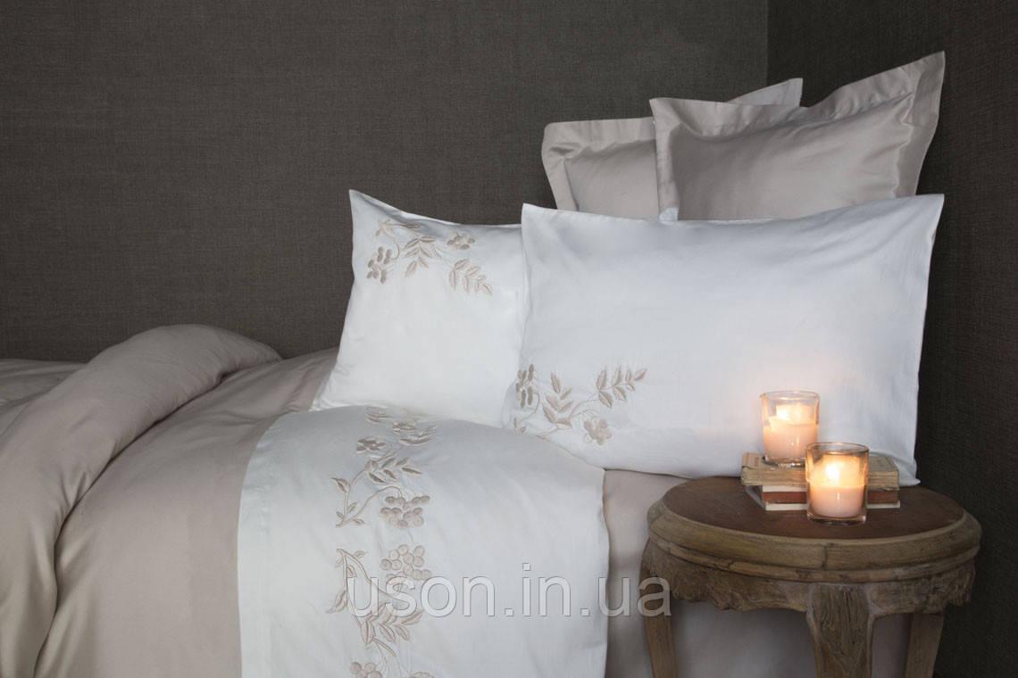 Комплект постельного белья сатин с вышивкой и кружевом Тм Pupilla Salda