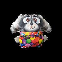 Антистрессовая подушка-игрушка Цацки-Пецки Енот Сладкоежка  дизайн енот-драже