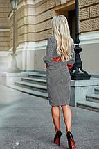 """Облегающее деловое миди-платье на пуговицах """"Cecilia"""" с четвертным рукавом (2 цвета), фото 3"""