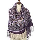 Город золотой 1643-65, павлопосадский шарф-палантин шерстяной с шелковой бахромой, фото 2
