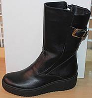 Сапоги зимние кожаные женские на широкую ногу от производителя модель СА251, фото 1