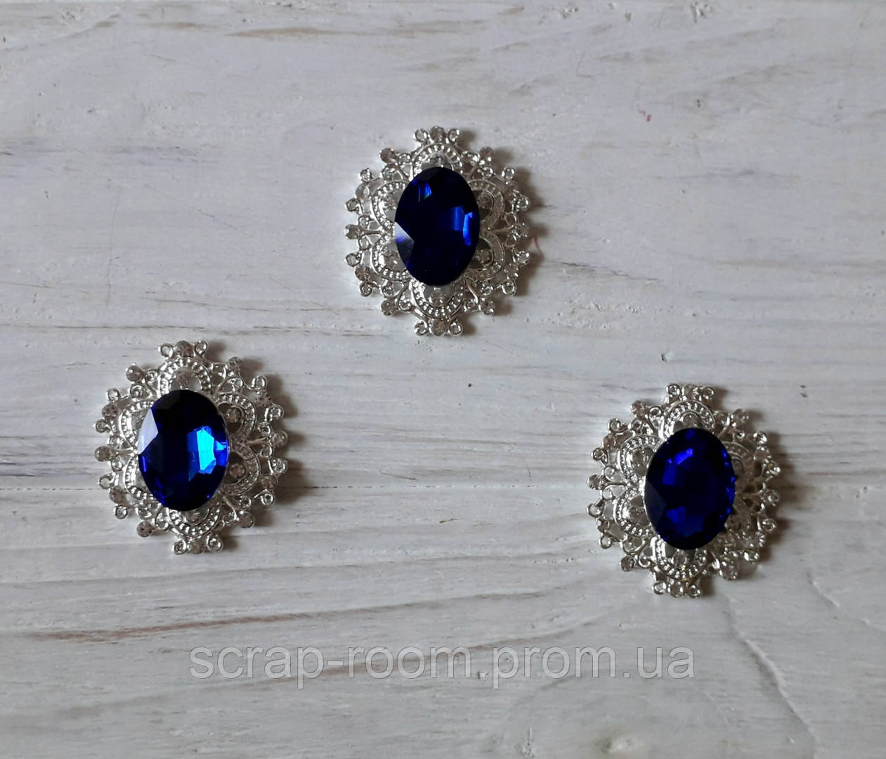 Брошь со стразами, брошь с синим камнем, брошь с камнем, брошь свадебная, размер 28*32 мм, цена за шт