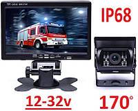 """Камера 170гр. IR15m. 12-32v IP68 с монитором 7"""" RV Van Caravan CMOS заднего вида для грузовиков, фото 1"""