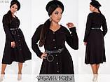 Вельветовое платье на пуговицах размеры: 48, 50, 52, 54, фото 5